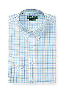 Classic Fit No-Iron Stretch Cotton Dress Shirt