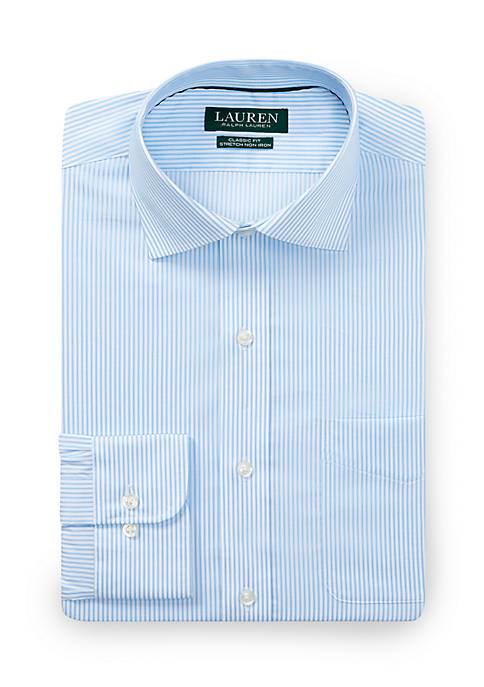 Lauren Ralph Lauren Classic Fit No-Iron Stretch Cotton