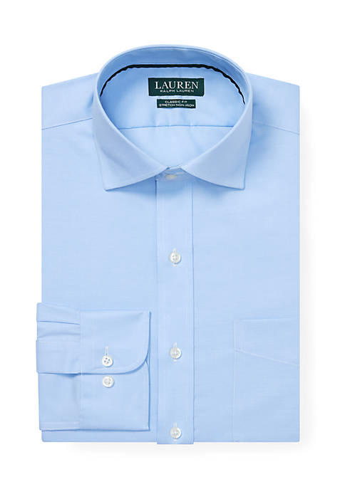 Lauren Ralph Lauren Classic Fit No-Iron Stretch Textured