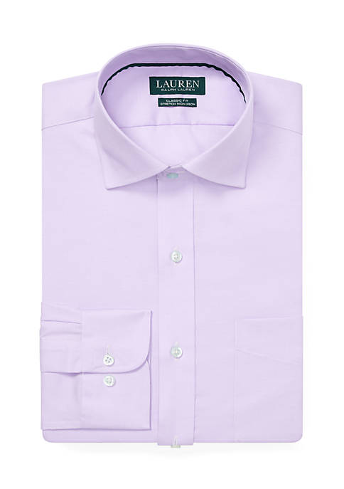 Lauren Ralph Lauren Classic Fit No-Iron Textured Solid