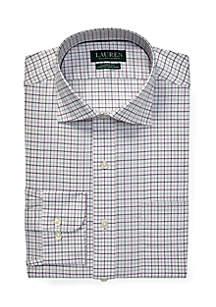 Classic Fit No-Iron Plaid Dress Shirt