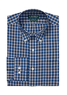 Classic Fit No-Iron Checked Plaid Dress Shirt