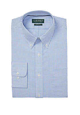 0b39b91b311 Lauren Ralph Lauren Classic Fit No Iron Checked Cotton Dress Shirt ...