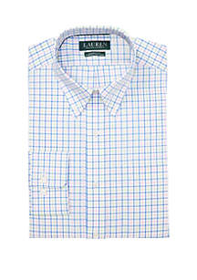 Lauren Ralph Lauren Classic Fit No Iron Plaid Cotton Dress Shirt