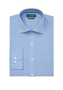 Lauren Ralph Lauren Classic Fit No Iron Print Dress Shirt