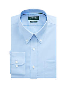 Lauren Ralph Lauren Classic Fit No Iron Cotton Dress Shirt