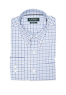 Lauren Ralph Lauren Classic Fit No Iron Plaid Cotton Dress Shirt