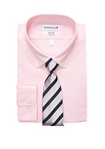 Big & Tall 2-Piece Boxed Dress Shirt Set
