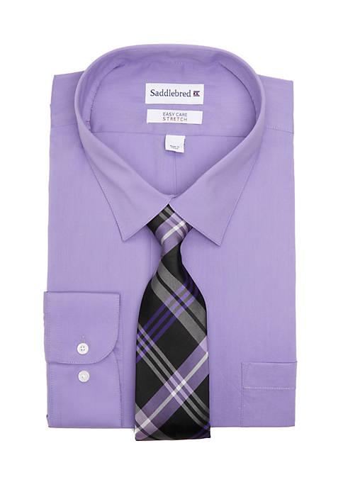 Big & Tall Allover Stretch Dress Shirt