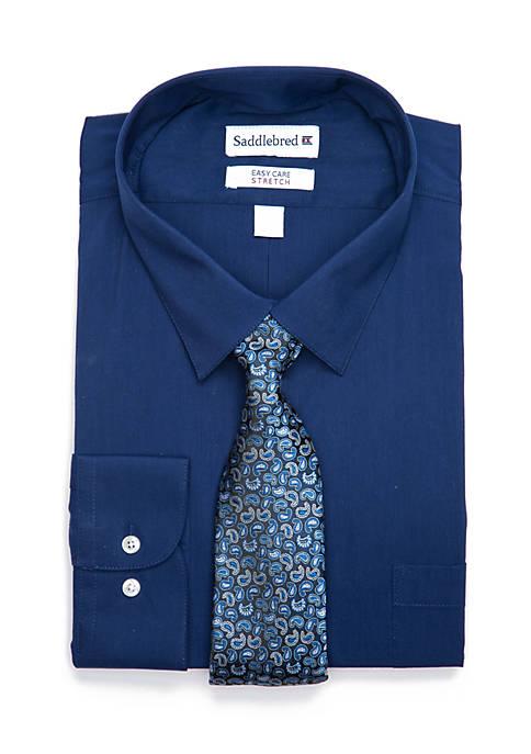 Big & Tall Solid Stretch Dress Shirt