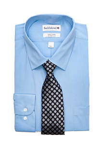 Saddlebred® 2-Piece Stretch Solid Point Collar Shirt Set
