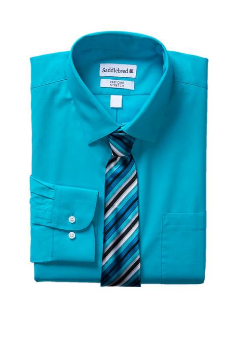 Mens Long Sleeve Dress Shirt Set