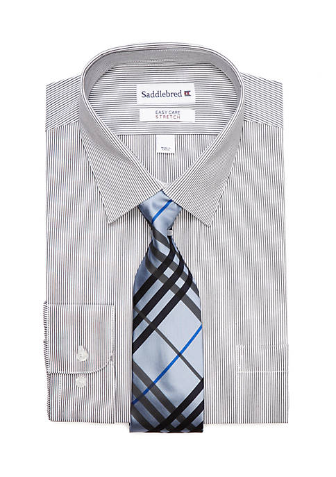 Saddlebred® 2 Piece Stretch Point Collar Dress Shirt
