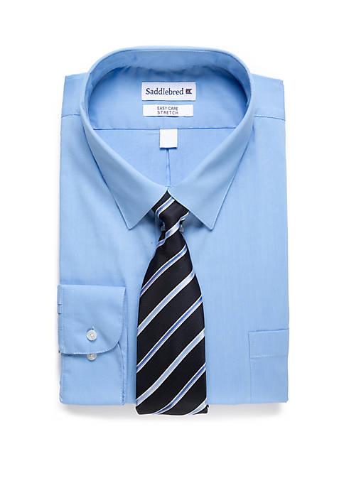 Saddlebred® Big & Tall Allover Stretch Dress Shirt