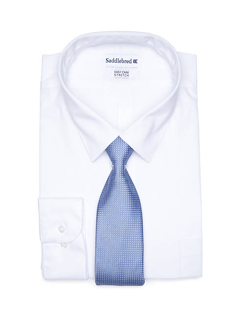 Saddlebred® Big & Tall Allover Stretch Dress Shirt