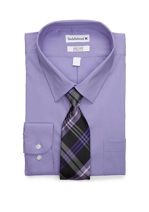 Big & Tall Allover Stretch Tall Fit Dress Shirt