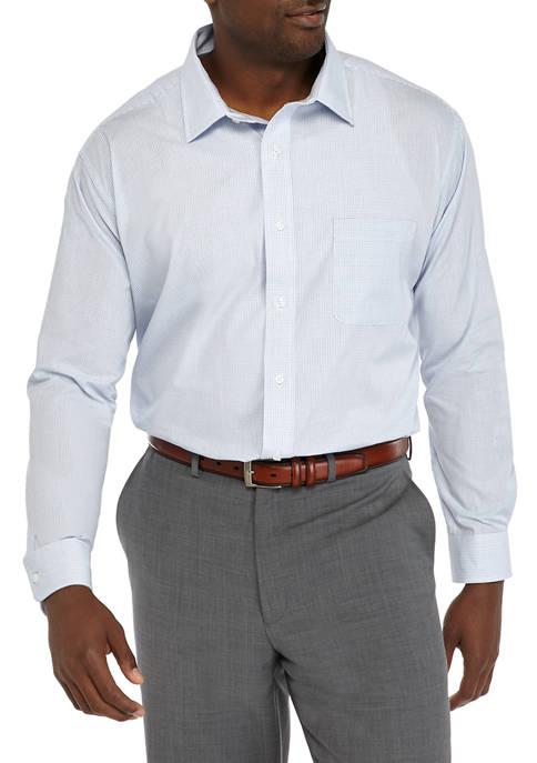 Big & Tall Check Stretch Collar Button Down Shirt