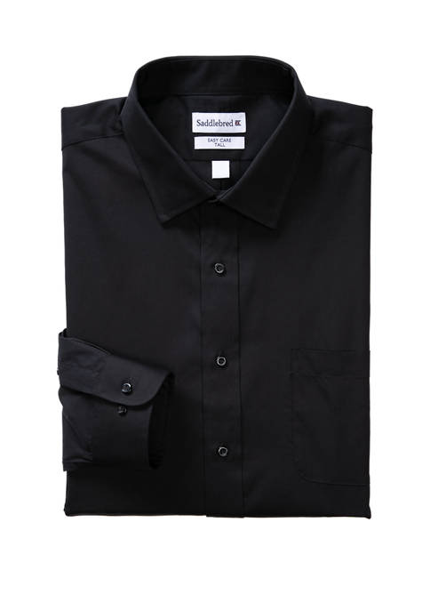 Big & Tall Long Sleeve Easy Care Stretch Collar Dress Shirt