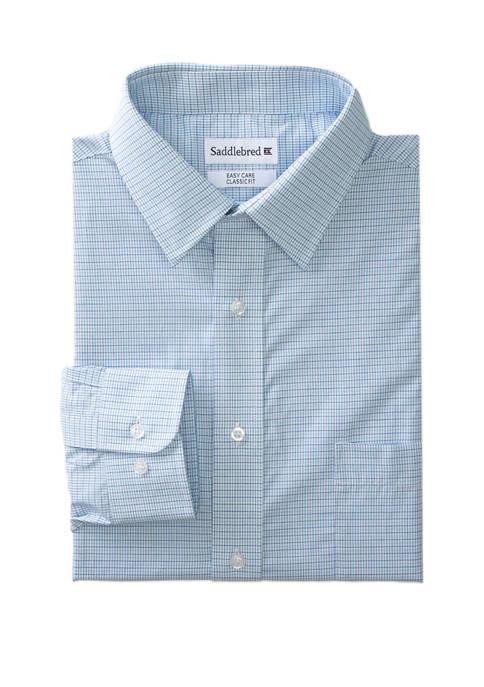 Mens Long Sleeve Stretch Collar Dress Shirt