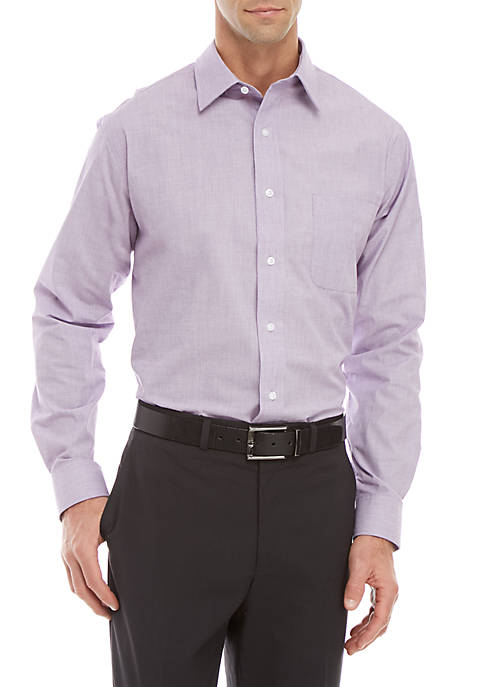 Long Sleeve Easy Care Stretch Collar Dress Shirt