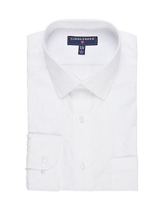 Elaine Karen Premium Mens White Long Sleeve Dress Shirt