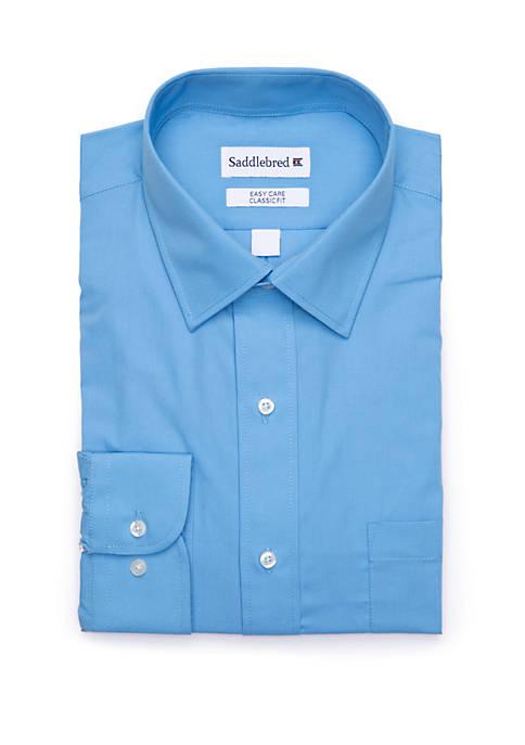 Saddlebred Men's Long Sleeve Easy Care Stretch Collar Dress Shirt