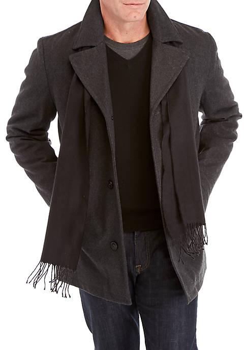 London Fog® Scarf Coat
