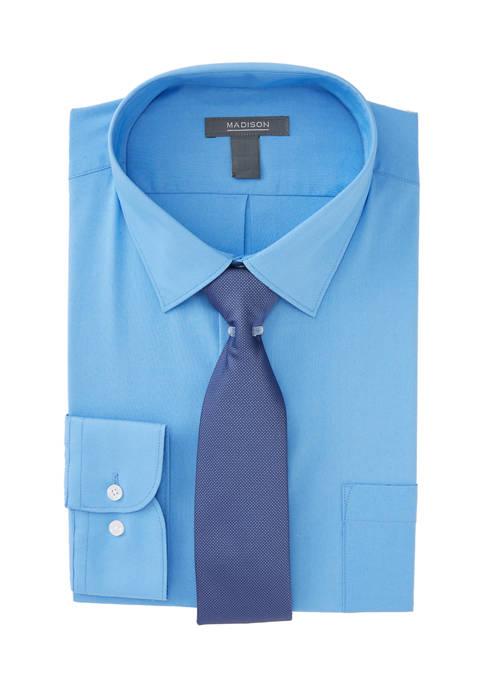 Madison Mens 2 Piece Slim Stretch Dress Shirt