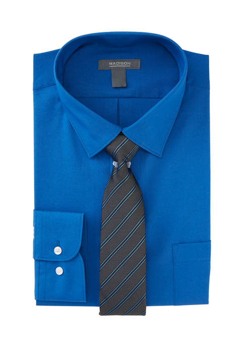 Madison Mens 2-Piece Dress Shirt with Tie