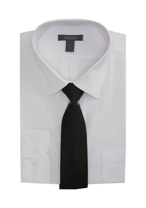 Slim Stretch Dress Shirt with Tie Set