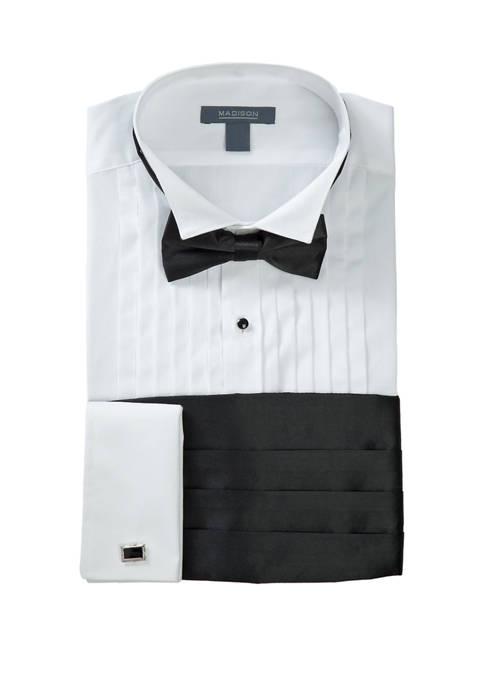Madison Slim Fit Wing Tip Black Bow Tie