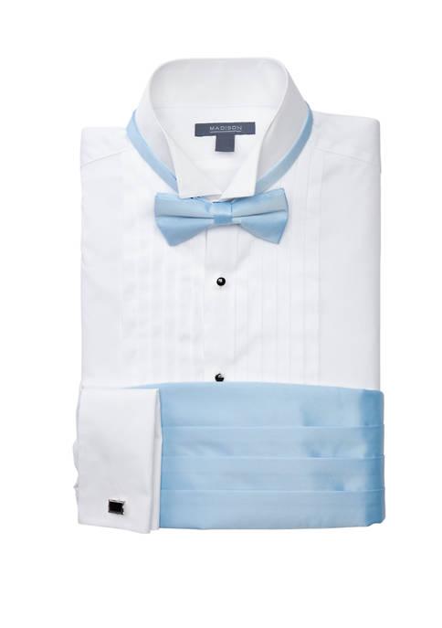 Slim Wing Tip Light Blue Formal Shirt Set
