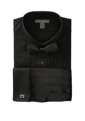 Wing Top Box Black Formal Shirt
