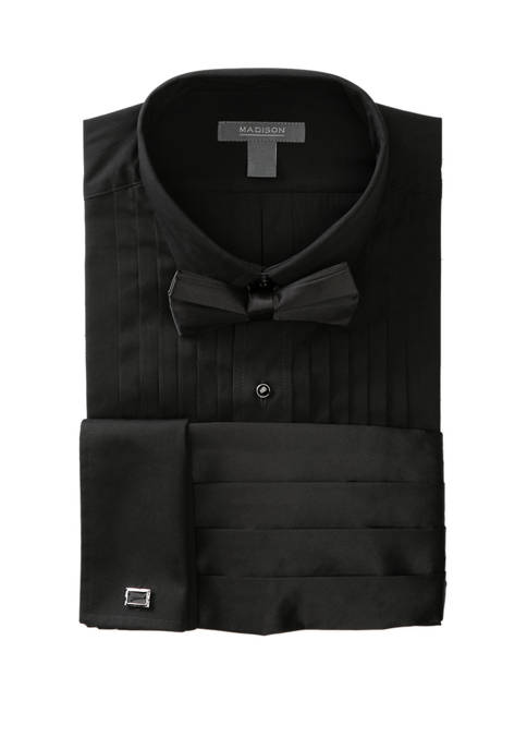 Madison Wing Top Box Black Formal Shirt
