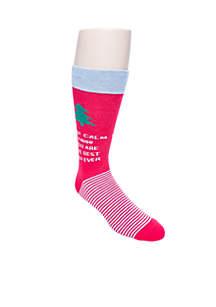 Keep Calm Best Dad Holiday Socks