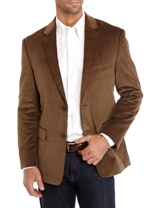 Big & Tall Brown Corduroy Sport Coat