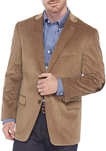 Big & Tall Corduroy Sport Coat With Elbow Patches