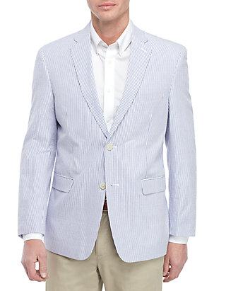 23d6b6a7521b Saddlebred® Big & Tall Blue White Seersucker Sport Coat | belk