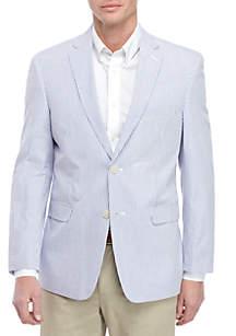 Saddlebred® Blue White Seersucker Sport Coat