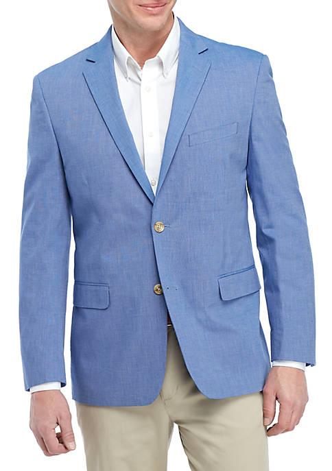 Saddlebred® Big & Tall Blue Chambray Sports Coat