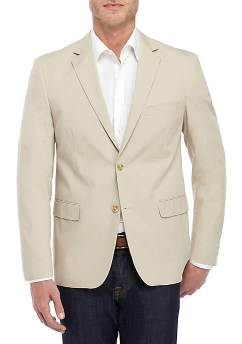 Saddlebred® Big & Tall Tan Chambray Sports Coat