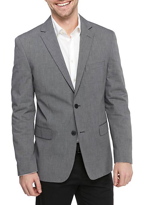 Big & Tall Solid Chambray Sport Coat