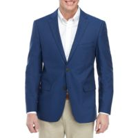 Deals on Saddlebred Mens Indigo Blue Chambray Sports Coat