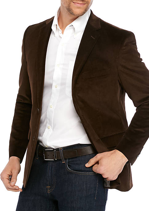 Saddlebred® Dark Brown Corduroy Sport Coat