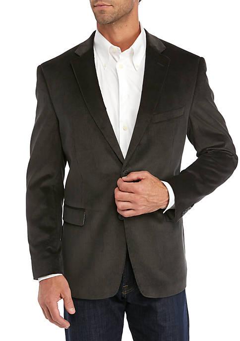 Saddlebred® Mens Gray Corduroy Sport Coat
