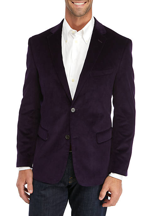 Mens Purple Corduroy Sport Coat