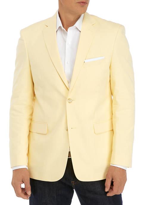 Mens Yellow Chambray Sport Coat