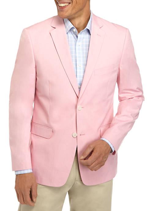 Saddlebred® Big & Tall Solid Pink Chambray Sport