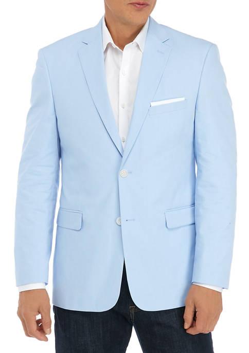 Saddlebred® Mens Light Blue Chambray Sport Coat