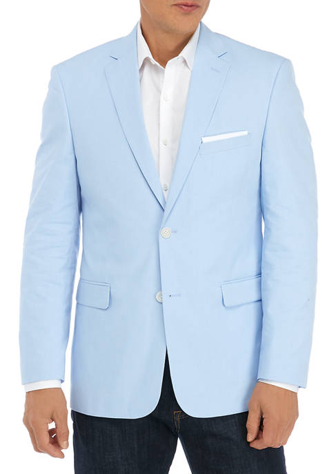 Mens Light Blue Chambray Sport Coat